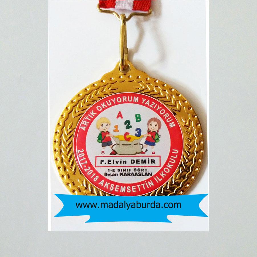 İsimli okuma bayramı madalyası
