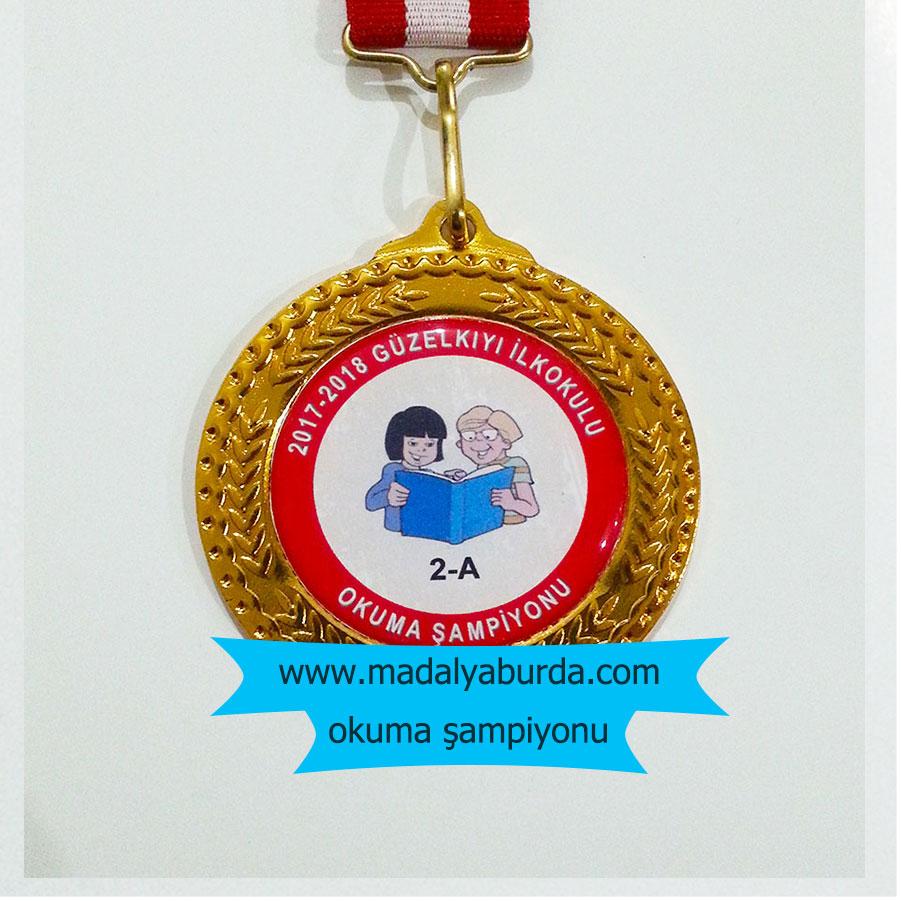 Okuma Şampiyonu madalyası