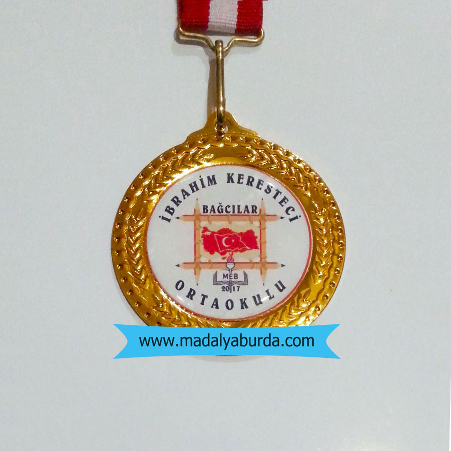 Okul logolu madalya